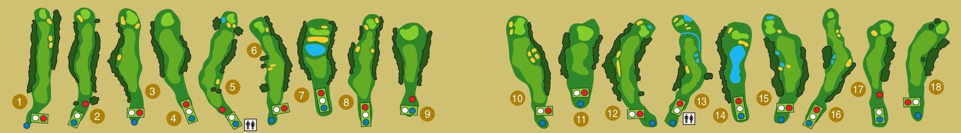 18 trous de golf